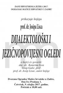 Dijalektološki ogledi plakat